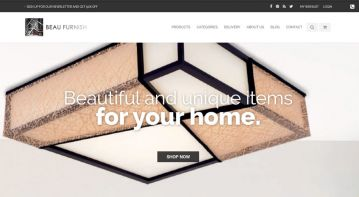 Home furniture e-commerce website