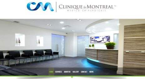 Health sector branded website for Canadian clinic