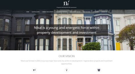 Construction and property development company website