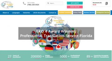 Miami, USA translation company website